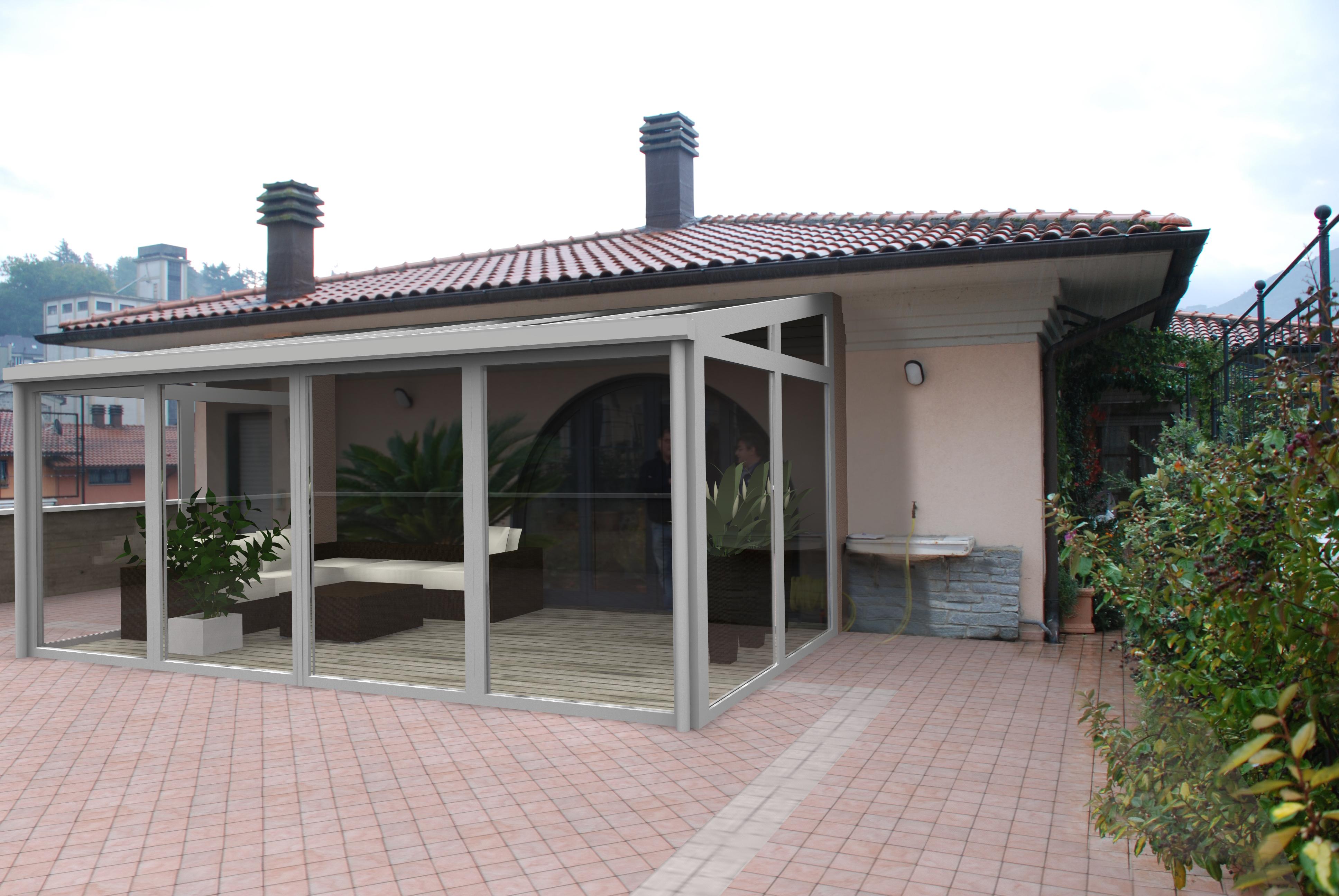 Verande tra le tettoie in metallo e vetro ci sono le - Coperture per verande ...